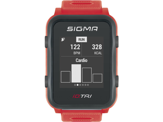 SIGMA SPORT iD.TRI Montre Multisport Kit, neon red